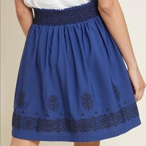 New Modcloth Immediately Adored Embroidered Skirt